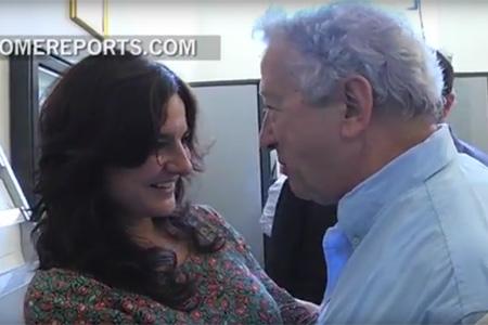 Paloma García Ovejero con Antonio Pelayo tras conocerse la noticia de que será la nueva vicedirectora de la Oficina de Prensa de la Santa Sede 11 julio 2016