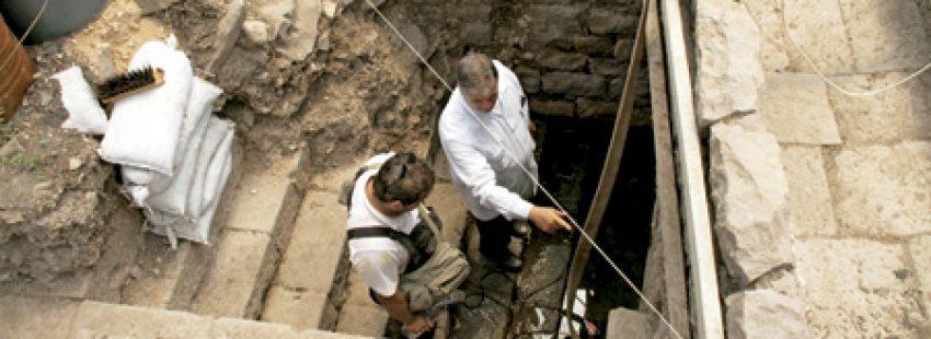 P. Juan María Solana, excavaciones en la antigua Magdala, ciudad de María Magdalena