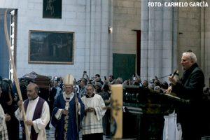 Kiko Argüello en el funeral por Carmen Hernández, coiniciadora del Camino Neocatecumenal Madrid 21 julio 2016