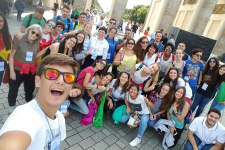 jóvenes peregrinos diócesis de Málaga en Berlín camino de la JMJ Cracovia 2016