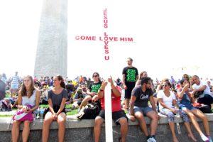 jóvenes participantes en el encuentro Together 2016 en Washington a los que Francisco envió un mensaje julio 2016