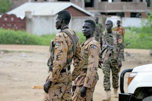 militares en Sudán del Sur al borde del genocidio durante la guerra civil 2016