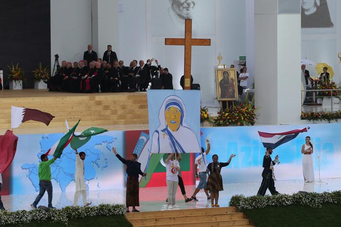 papa Francisco JMJ Cracovia 2016 ceremonia de acogida de los jóvenes Parque Jordan de Blonia 28 julio 2016