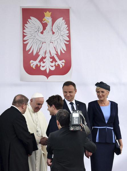 papa Francisco llega a Polonia JMJ Cracovia 27 julio 2016