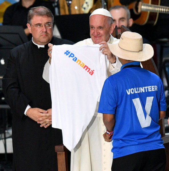 papa Francisco JMJ Cracovia 2016 encuentro final con los voluntarios 31 julio 2016