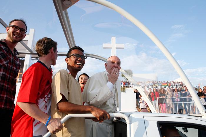 papa Francisco en la vigilia de la Jornada Mundial Juventud Cracovia 2016 30 julio 2016