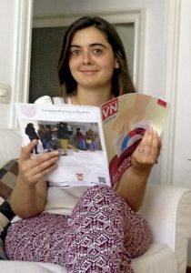 Carmen de la Llave, periodista barcelonesa de 26 años