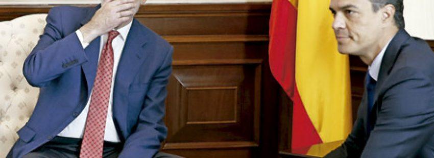 Mariano Rajoy y Pedro Sánchez se reúnen para hablar de la investidura y desbloquear el gobierno 2 agosto 2016