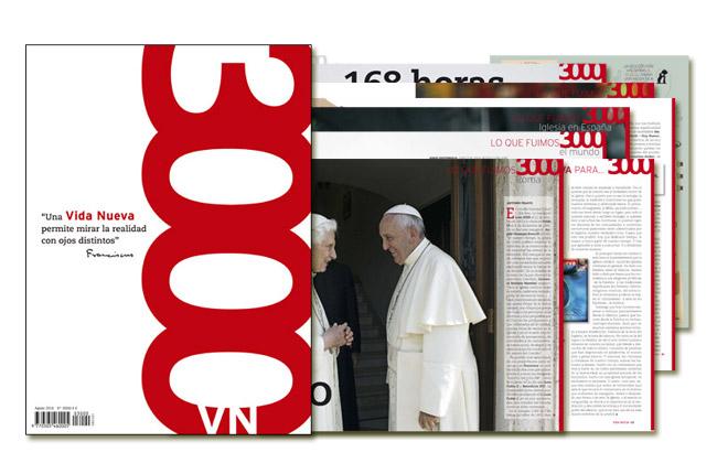 Número 3000 de Vida Nueva portada y páginas interiores