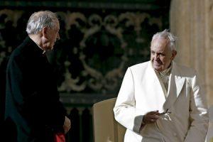 Juan Luis Cipriani cardenal arzobispo de Lima Perú con el papa Francisco 2014
