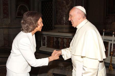 Reina Sofia y papa Francisco