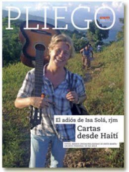 portada Pliego VN El adiós de Isa Solá. Cartas desde Haití 3002 septiembre 2016