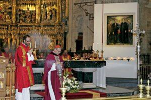 cardenal Angelo Amato en la beatificación en Asturias de cuatro mártires de Nembra 8 octubre 2016 Oviedo