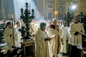Arturo Sosa Abascal, nuevo prepósito general de la Compañía de Jesús, en su primera misa como general, en la iglesia de Il Gesù de Roma 16 octubre 2016