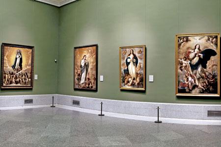 exposición en el Museo del Prado Inmaculadas. Donación Plácido Arango Arias