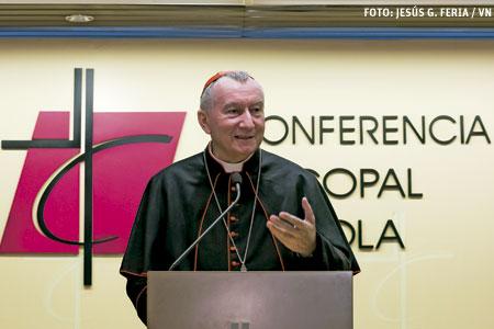 cardenal Pietro Parolin secreario de Estado vaticano visita España sede de la CEE 14 octubre 2016