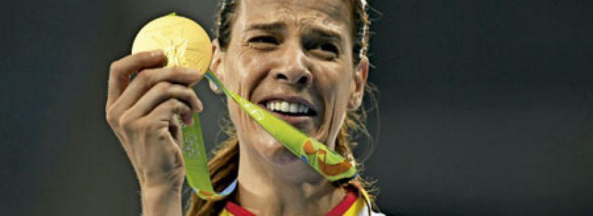Ruth Beitia, atleta, medalla de Oro en los Juegos Olímpicos de Río 2016