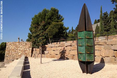 columbario en un cementerio de Barcelona para depositar las cenizas de difuntos que sean incinerados