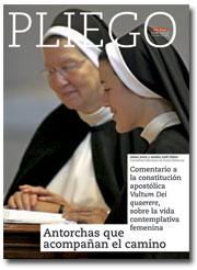 portada Pliego Comentario a la constitución apostólica sobre la vida contemplativa femenina 3008 octubre 2016