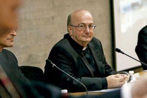 Francisco Simón Conesa, obispo electo de Menorca, en la rueda de prensa de presentación tras su nombramiento octubre 2016
