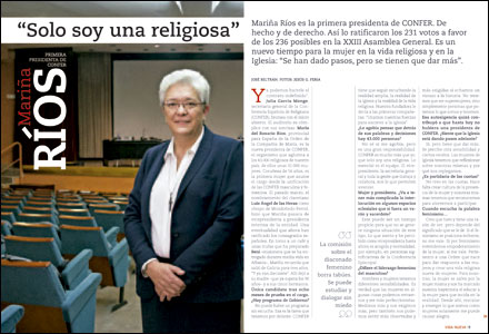 apertura A fondo Vida Nueva Entrevista a Mariña Ríos primera presidenta de CONFER 3013 noviembre 2016