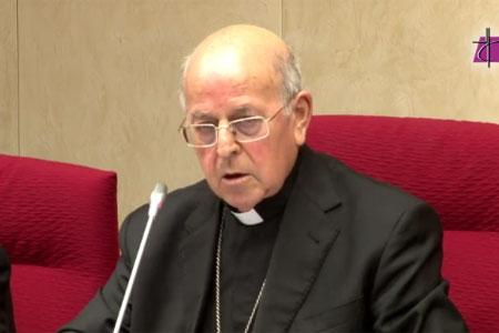 cardenal Ricardo Blázquez, presidente de la Conferencia Episcopal Española, en el discurso inaugural de la 108 Asamblea Plenaria de los Obispos 21 noviembre 2016