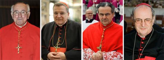 cuatro cardenales críticos con Amoris laetitia escriben una carta para pedirle aclaraciones  Walter Brandmüller, Raymond Leo Burke, Carlo Cafarra, Joachim Paul Meisner