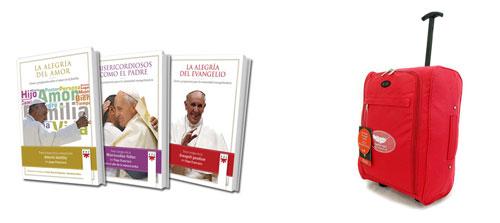 pack de libros del papa Francisco o maleta regalos promoción nuevas suscripciones Vida Nueva