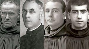 cuatro monjes benedictinos del priorato de Silos en Madrid asesinados en la Guerra Civil y beatificados en La Almudena 29 octubre 2016