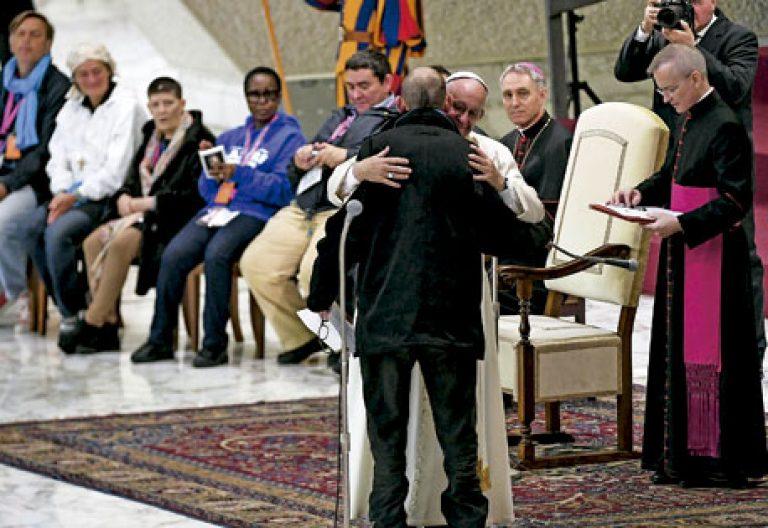 papa Francisco Jubileo de la Misericordia con excluidos y personas sin techo Roma 11 noviembre 2016