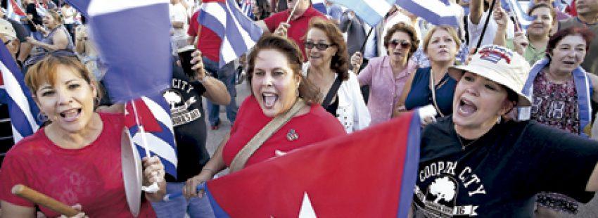 cubanos en Miami celebran la muerte de Fidel Castro 25 noviembre 2016