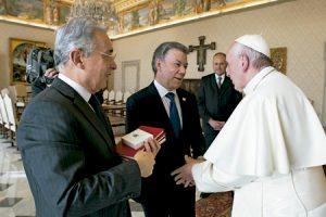 papa Francisco recibe a Juan Manuel Santos y Álvaro Uribe para hablar sobre el proceso de paz en Colombia 16 diciembre 2016
