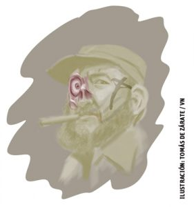 ilustración de Tomás de Zárate para el artículo de Jesús Sánchez Adalid sobre Fidel Castro 3015