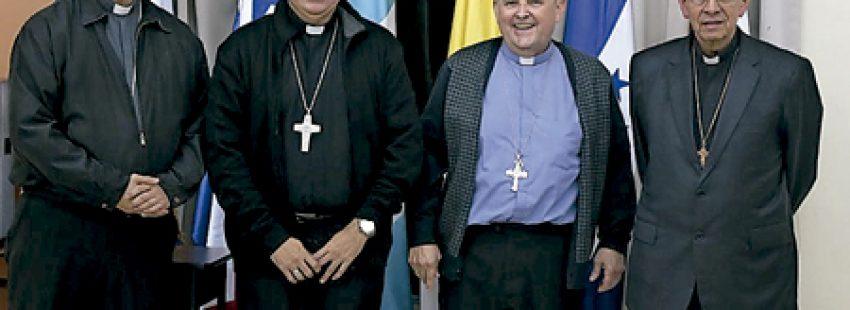 obispos centroamericanos que forman parte de la dirección del SEDAC Secretariado Episcopal de América Central 2016