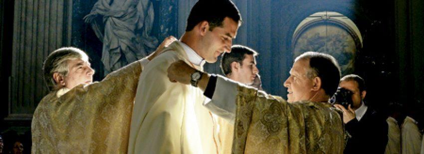 ordenación como sacerdote de un seminarista de los Legionarios de Cristo