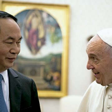 papa Francisco recibe en el Vaticano al presidente de Vietnam, Tran Dai Quang 23 noviembre 2016