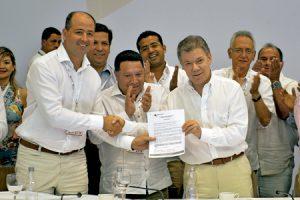 presidente de Colombia Juan Manuel Santos explica el segundo acuerdo firmado con las FARC noviembre 2016