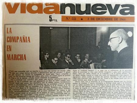 imagen de la revista Vida Nueva n 551 1966 con Pedro Arrupe, recién elegido prepósito general de la Compañía de Jesús