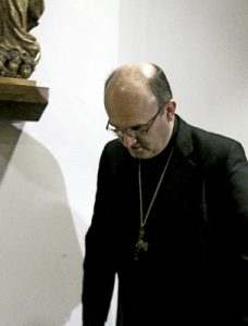 José Ignacio Munilla, obispo de San Sebastián, comparece en rueda de prensa para hablar de los casos de abusos de su exvicario Juan Cruz 12 de enero 2017
