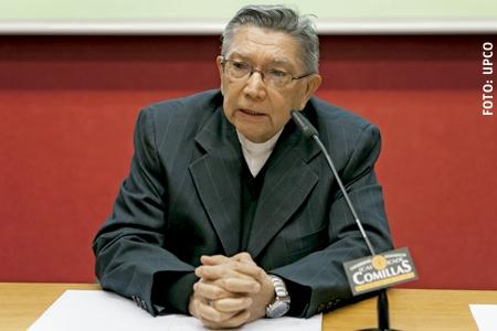 Ubaldo R. Santana, arzobispo de Maracaibo Venezuela charla en la Universidad Pontificia Comillas Madrid enero 2017