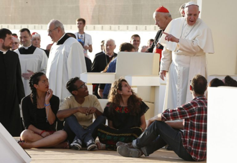 papa Francisco en una celebración Jornada Mundial de la Juventud JMJ Cracovia 2016