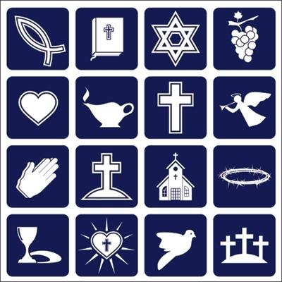 logotipos de varias religiones presentes en España