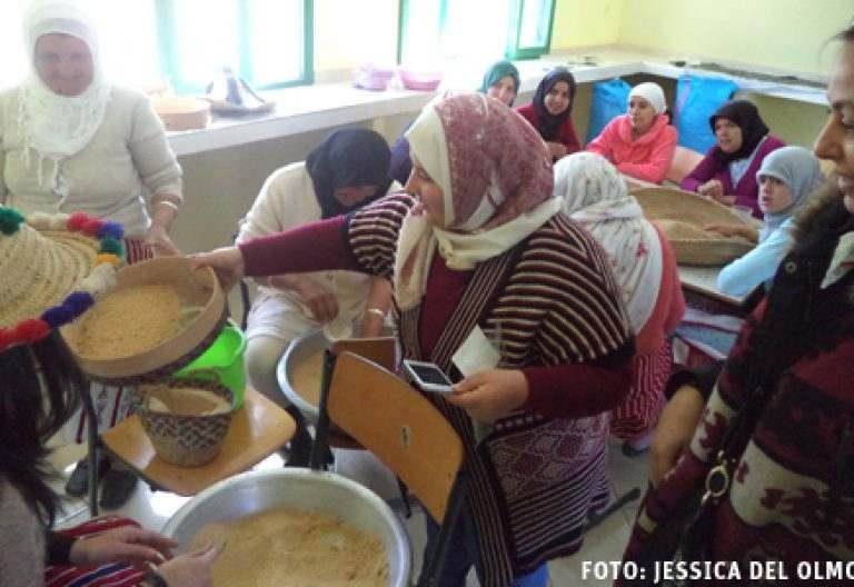 mujeres en Marruecos en un proyecto de Manos Unidas