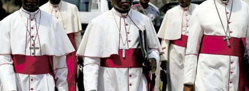 obispos de República Democrática del Congo que participaron en las negociaciones para un acuerdo para que Kabila deje la presidencia