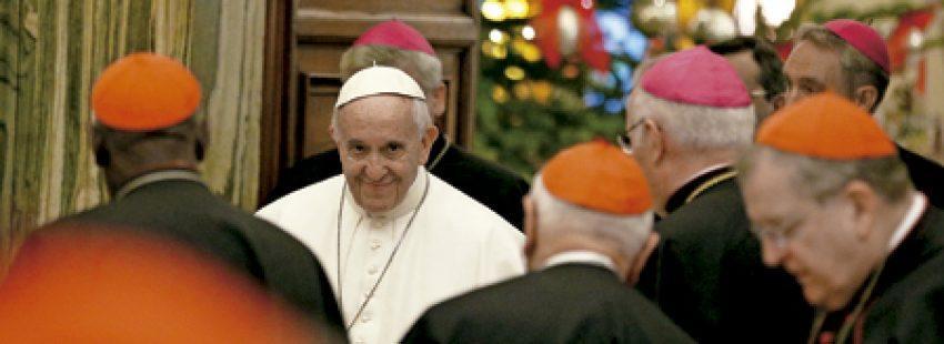 papa Francisco dirige su discurso de Navidad a la Curia 22 diciembre 2016