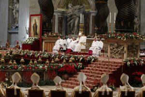 papa Francisco preside la misa 1 enero 2017 solemnidad de María Madre de Dios Basílica de San Pedro