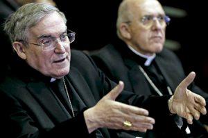 cardenales Lluís Martínez Sistach y Carlos Osoro en la presentación de libro de Sistacha Cómo aplicar Amoris laetitia febrero 2017