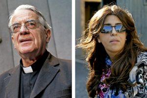 padre Federico Lombardi exdirector de la Sala de Prensa de la Santa Sede y Francesca Chaouqui
