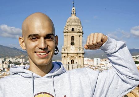 Pablo Ráez, joven malagueño enfermo de leucemia fenómeno viral
