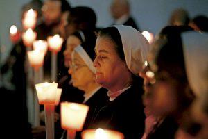 religiosas en la celebración en el Vaticano de la Jornada Mundial de la Vida Consagrada 2 febrero 2017